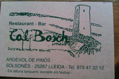 Cal Bosch, Restaurant. Dades de contacte
