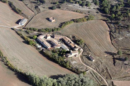 Vista aérea del caserío de Santiuste