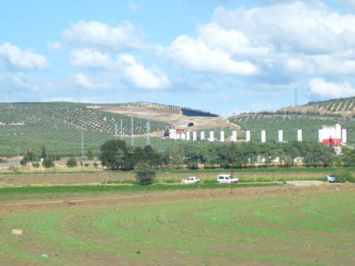 Obras del AVE Sevilla - Granada. Septiembre de 2012
