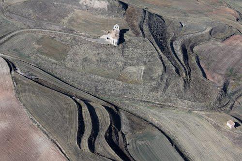 Vista aérea de la ermita de Muñó