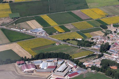 Vista aérea de Quintanadiez de la Vega