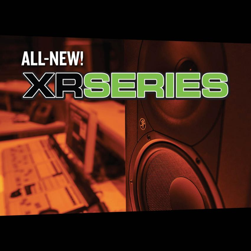 Blog header image showing an image of the Mackie X R Series studio monitors