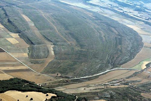 Vista aérea de la crtra de Dehesa de Montejo a Colmenares de Ojeda