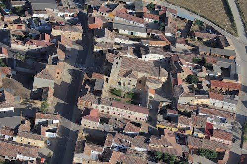 Vista aérea de la iglesia de Santa María de Husillos