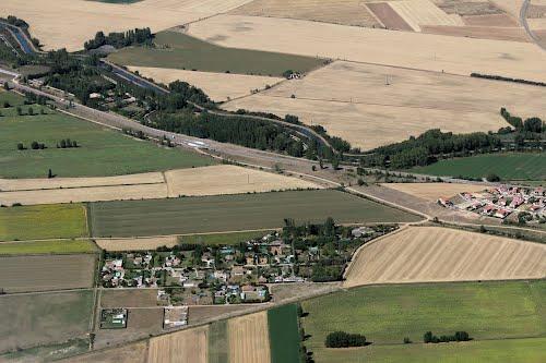 Vista aérea de la urbanización El Barberillo, en Husillos