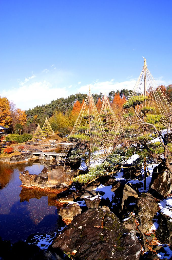 Japanese garden in early winter @ Fukushima Japan