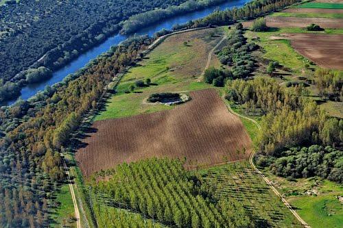 Vista aérea del río Tormes