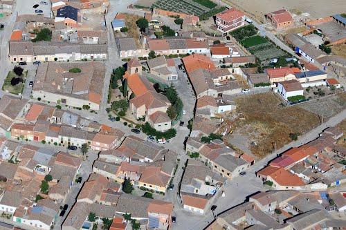 Vista aérea de Tarazona de Guareña
