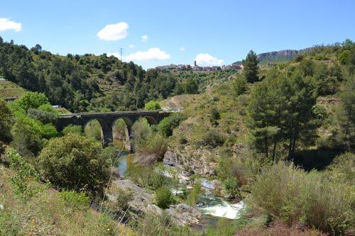 Puente sobre el río Montsant, may.2013