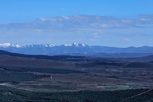 Vista aérea de la montaña leonesa
