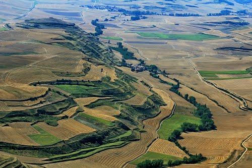 Vista aérea de Sotillo de Rioja y Castildelgado