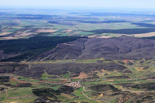 Vista aérea de Amayuelas de Ojeda