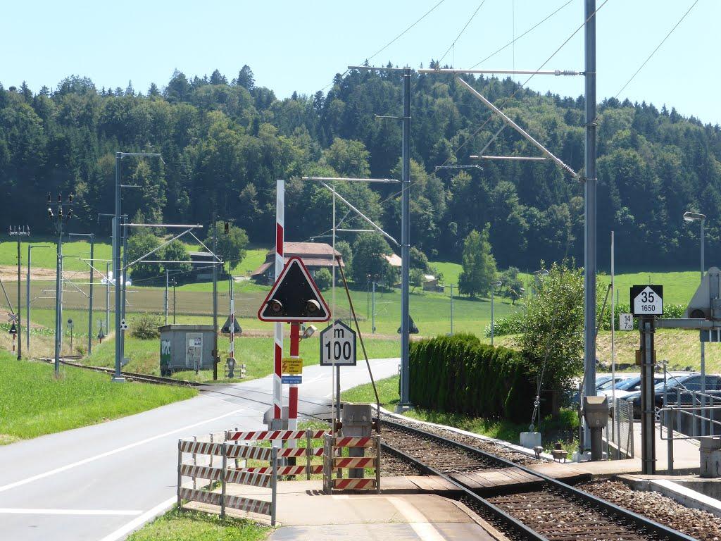 Bahnübergang bei der Schwarzwasserbrücke