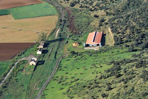 Vista aérea de la antigua estación de ffcc de Alba de Tormes