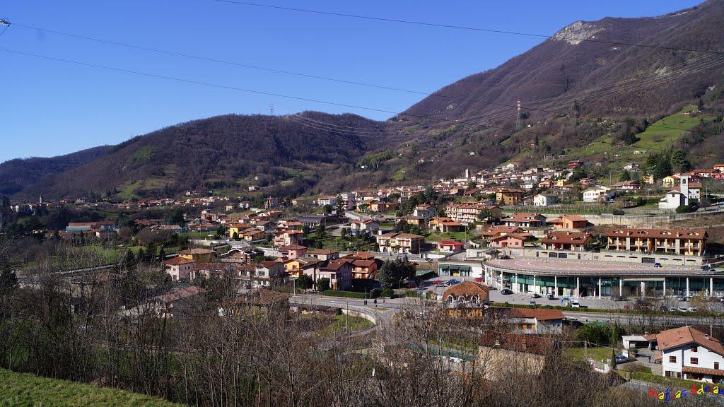 Italia Bergamo Vigano San Martino Vista Panoramica