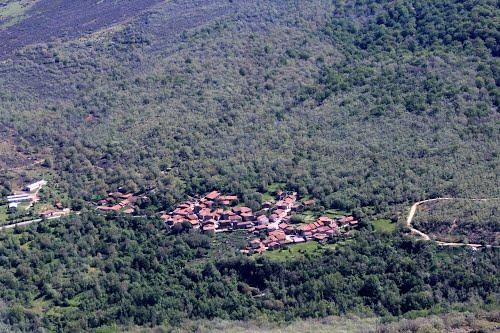 Vista aérea de Monasterio de la Sierra