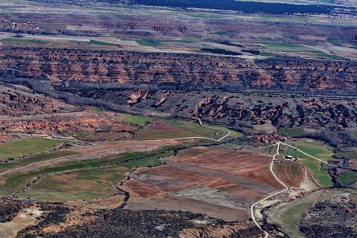Vista aérea de Noviales y de la sierra de Ayllón