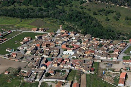 Vista aérea de Anaya y el río Moros