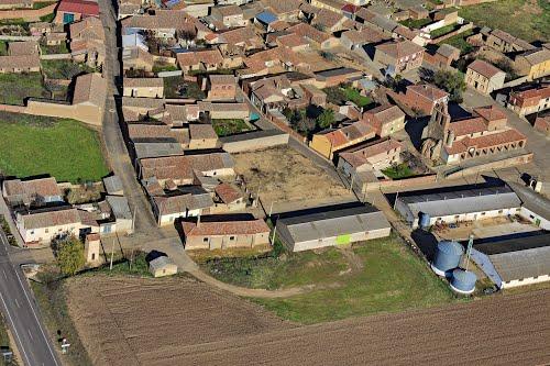 Vista aérea de Quintanilla del Olmo