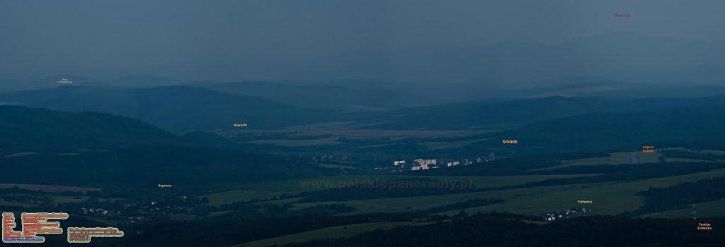 Panorama Svidnika z góry Baranie (Stavok)
