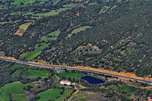 Vista aérea de la ermita del Soto, en Los Molinos