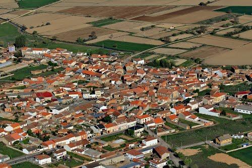 Vista aérea de Santibáñez de Tera