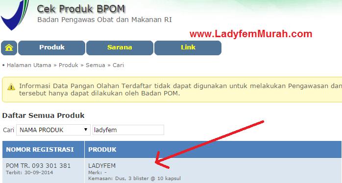 ladyfem BPOM