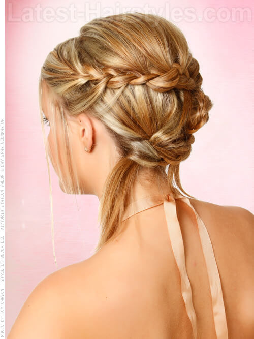 Boho Princess - Back View of Cute Blonde Braided Style