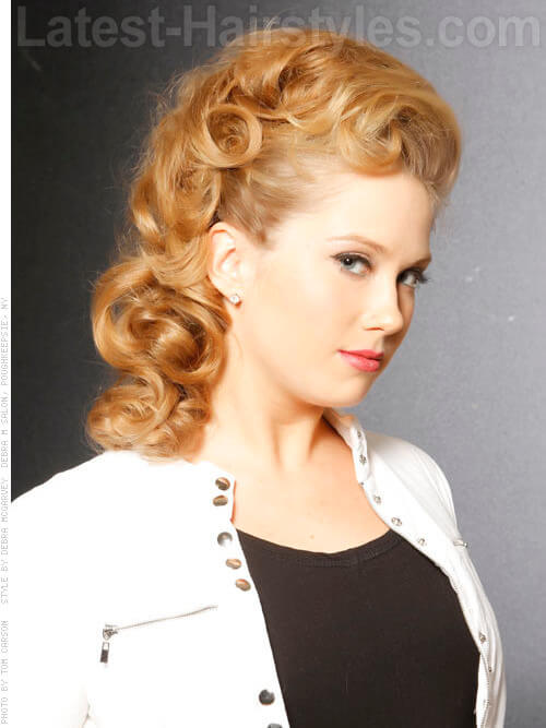 Bouffant Baby - Beautiful Retro Honey Colored Style - View 2