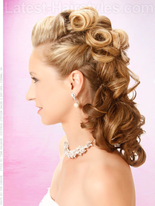 Holiday Honey - Lovely Cascading Curled Style
