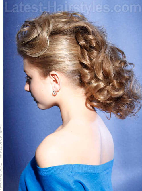 Spiral Sensation - Retro Shiny Updo - View 2