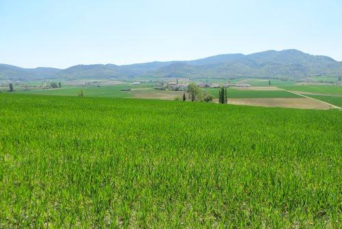 Llanada Alavesa ( Desde Azilu se ve Adana). País Vasco. Spain.