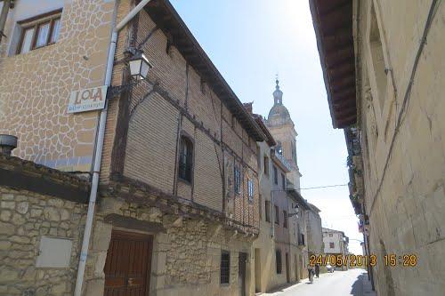 Calle Mayor en Berantevilla (Álava). España.
