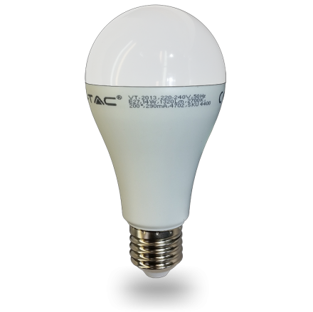 15W LED Birne E27 A65 Thermoplastik Warmweiss