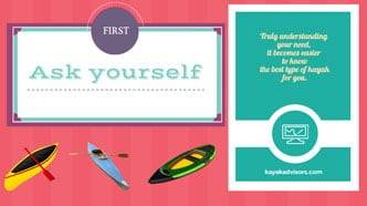 Infographic: best type ò kayak for you