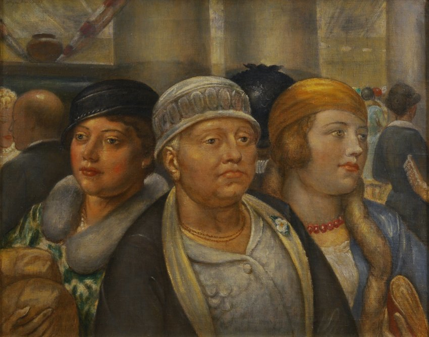 Kenneth Hayes Miller, Women in the Store, 1937, oil on canvas, 19 x 24 inches