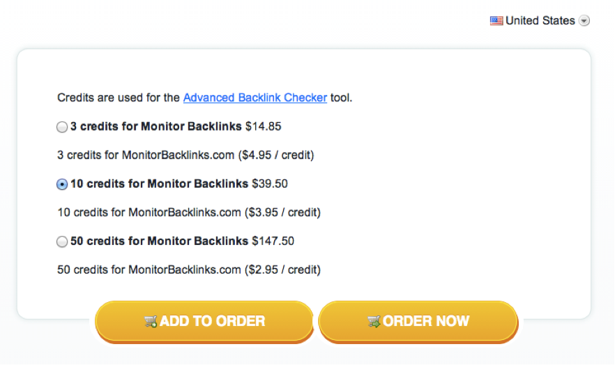 monitor backlinks pricing options