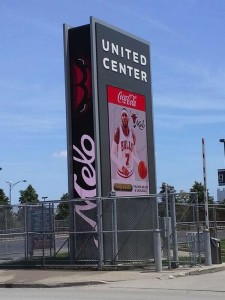 Steve Lippo of WGN tweeted the photo from the United Center in Chicago