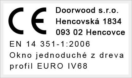 Certifikát - Doorwood s.r.o.