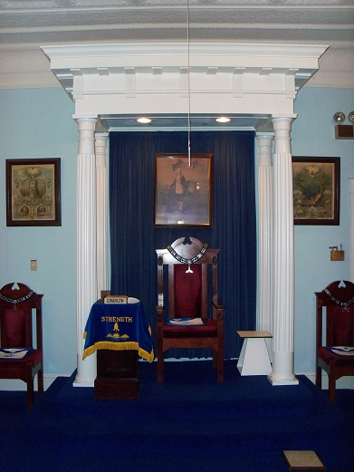 Chair of The Worshipful Master