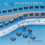 Conquer/功得方形微小型保险丝MST010 T10A /250V慢断塑封8*4