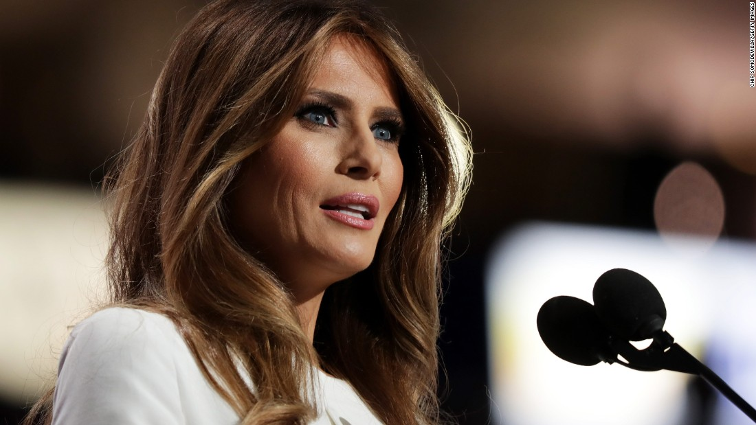 """Trump's wife, Melania, delivers a speech at the convention on July 18, 2016. """"If you want someone to fight for you and your country, I can assure you, he's the guy,"""" she said of her husband. Afterward, <a href=""""http://www.cnn.com/2016/07/18/politics/melania-trump-speech-2016-rnc/index.html"""" target=""""_blank"""">it was revealed</a> that passages of her speech were taken from Michelle Obama's 2008 speech at the Democratic National Convention. A speechwriter <a href=""""http://www.cnn.com/2016/07/20/politics/donald-trump-campaign-organization/"""" target=""""_blank"""">identified herself as the person responsible for the plagiarism,</a> and she offered her resignation. The Trumps did not accept. """"She made a mistake. ... We all make mistakes,"""" Donald Trump told ABC News."""