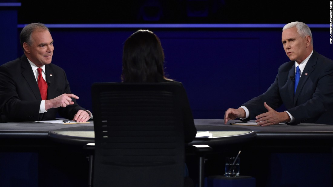 Kaine and Pence face off in the vice presidential debate.