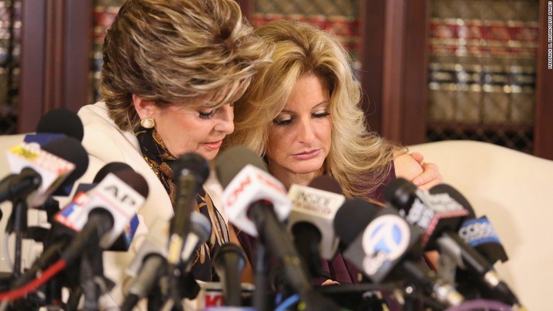 """Attorney Gloria Allred, left, holds a news conference with Summer Zervos, a former contestant on """"The Apprentice"""" who has <a href=""""http://www.cnn.com/2016/10/14/politics/donald-trump-women-accuser/index.html"""" target=""""_blank"""">accused Donald Trump</a> of grabbing her breast and kissing her aggressively in 2007.  The presidential candidate disputed Zervos' allegations <a href=""""https://www.donaldjtrump.com/press-releases/donald-j.-trump-statement8"""" target=""""_blank"""">in a statement</a> on October 14, 2016. """"When Gloria Allred is given the same weighting on national television as the president of the United States, and unfounded accusations are treated as fact, with reporters throwing due diligence and fact-finding to the side in a rush to file their stories first, it's evident that we truly are living in a broken system,"""" Trump said. At a rally that day in Charlotte, North Carolina, Trump called himself a """"victim"""" as more women continued to come forward accusing him of sexual assault and harassment. """"I am a victim of one of the great political smear campaigns in the history of our country,"""" he said."""