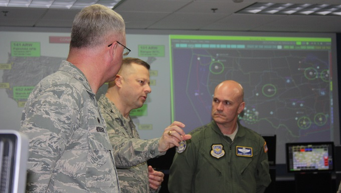 AMC commander visits the Western Air Defense Sector