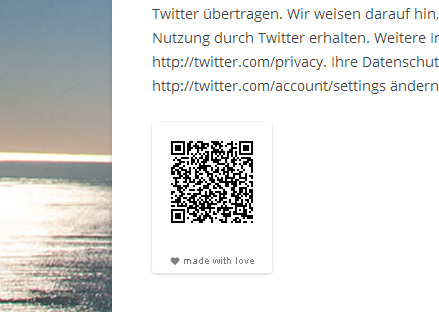 QR Code in WordPress