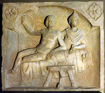Mithras feasts with his male bride