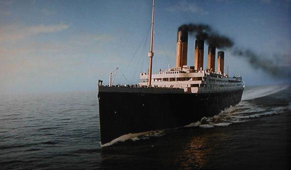 RMS Titanic in its first and maiden voyage