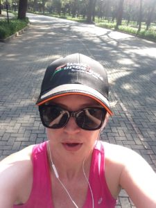 Jenny training for the New York marathon in Mexico City.