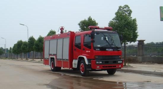 五十铃6-7吨水罐消防车